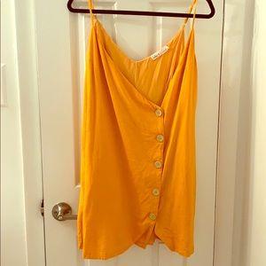 XL Orange LuLus Button Dress
